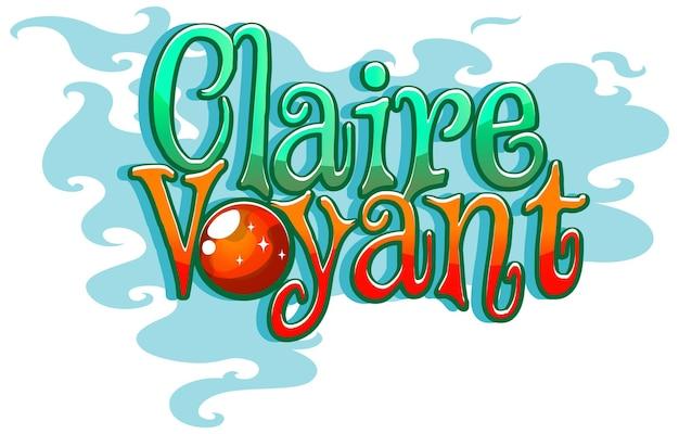 Diseño de fuente del logotipo de claire voyant