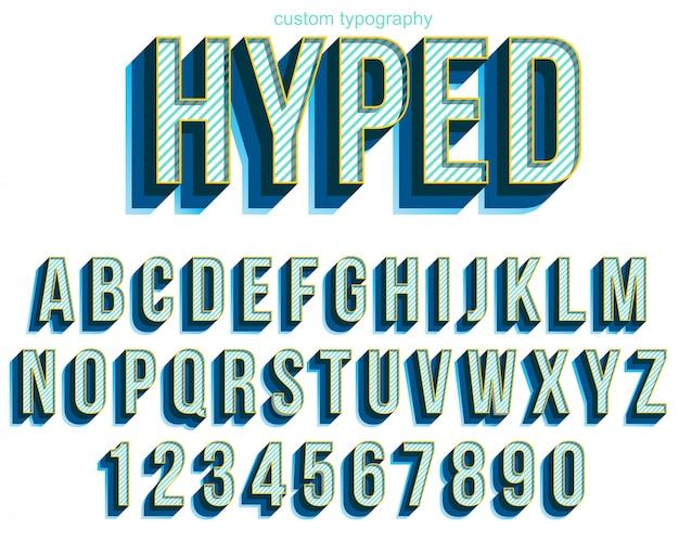 Diseño de fuente de tipografía audaz colorido