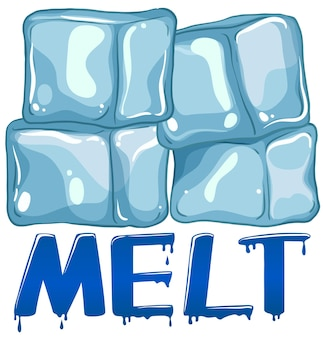 Diseño de fuente para word melt.
