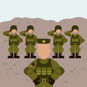 Diseño de las fuerzas armadas militares.