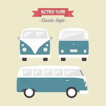 Diseño de furgoneta vintage