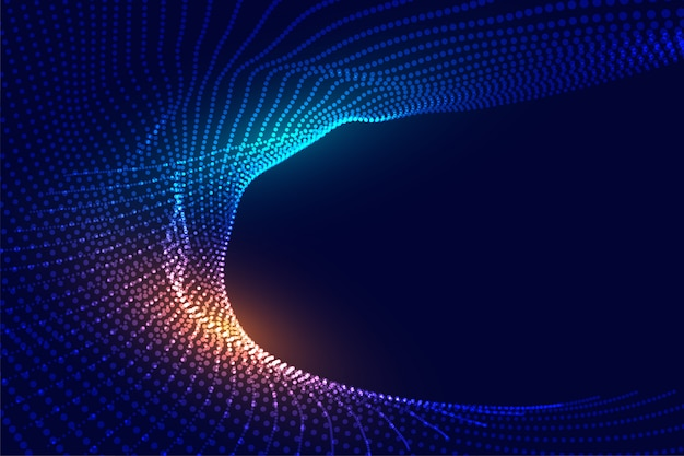 Diseño futurista abstracto del fondo de las partículas digitales brillantes