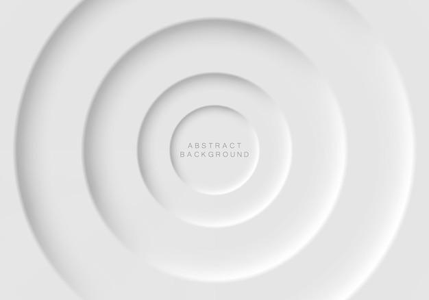 Diseño futurista suave, claro y simple de elementos en forma de círculo.