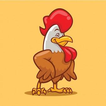 Diseño de gallo a color