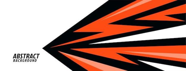 Diseño geométrico abstracto en estilo deportivo
