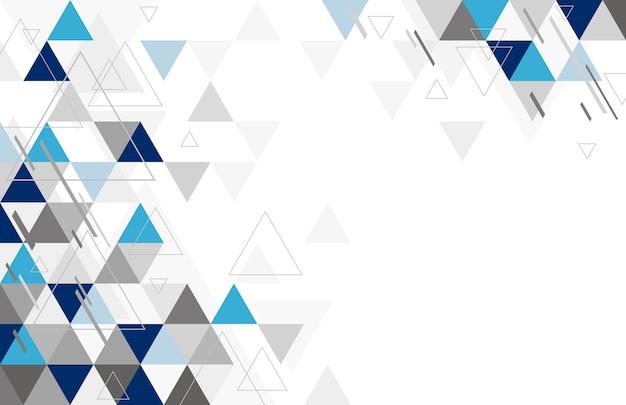 Diseño geométrico abstracto del fondo del triángulo