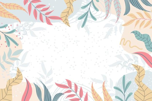 Diseño geométrico abstracto tropical de fondo