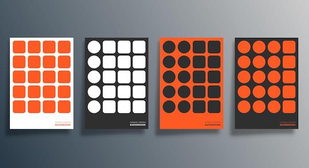 Diseño geométrico mínimo para folletos, carteles, portadas de folletos, fondo, papel tapiz, tipografía u otros productos de impresión. ilustración vectorial