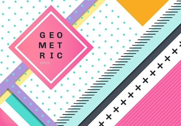 Diseño geométrico moderno abstracto de la textura del fondo
