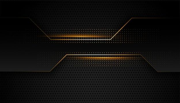 Diseño geométrico premium negro y dorado