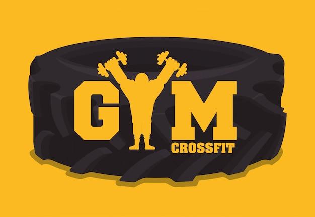 Diseño de gimnasio y fitness.