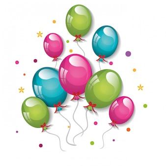 Diseño de globos de fiesta