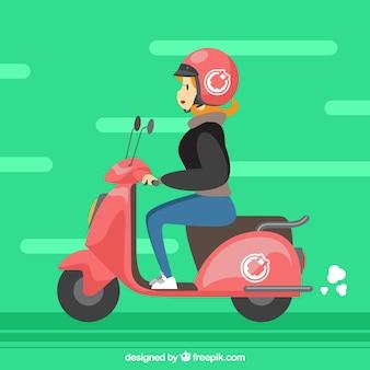 Diseño gracioso de moto eléctrico