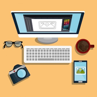 Diseño gráfico, arte y tema de la profesión.