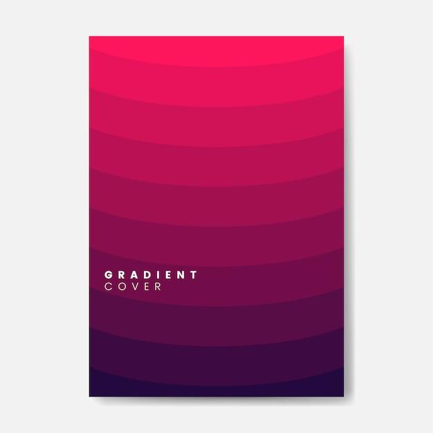Diseño gráfico de la cubierta degradado rojo