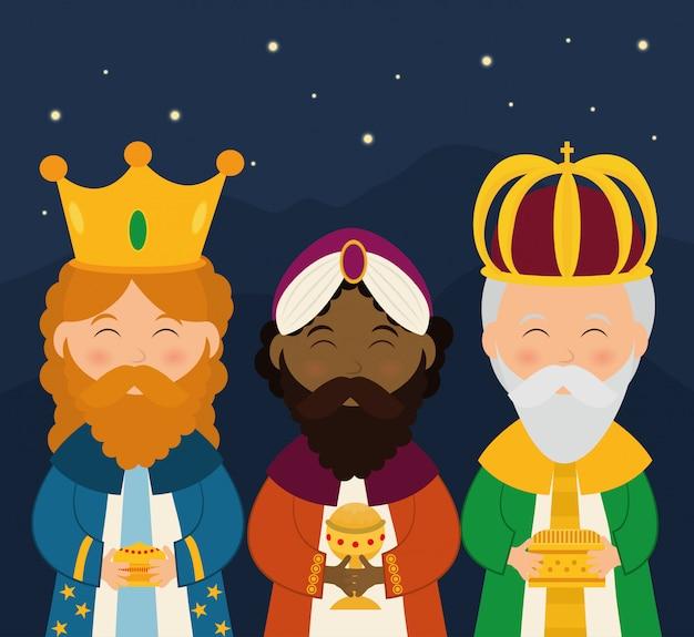 Diseño gráfico de dibujos animados de la temporada de navidad