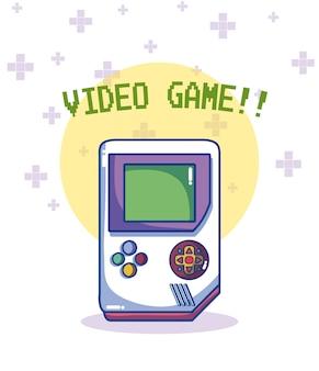 Diseño gráfico del ejemplo retro de la consola del vector del videojuego