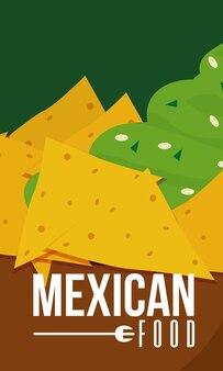 Diseño gráfico del ejemplo del vector de la tarjeta del menú de la comida mexicana