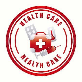 Diseño gráfico del emblema de atención médica