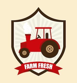 Diseño gráfico fresco de granja