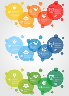 Diseño gráfico de información comercial creativa