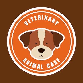 Diseño gráfico del logo de cuidado animal veterinario
