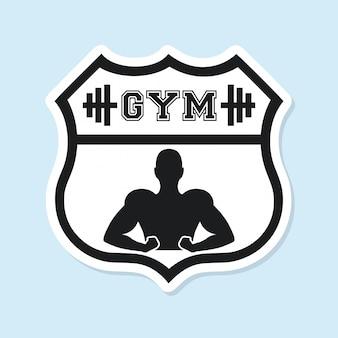 Diseño gráfico del logo de gimnasio deportivo