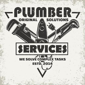 Diseño gráfico de logo vintage