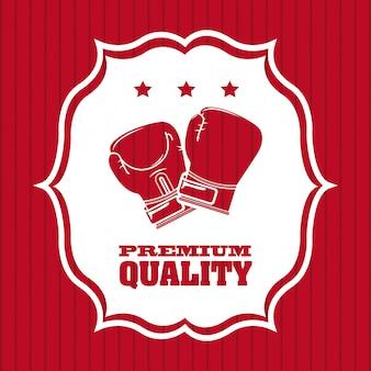 Diseño gráfico de logotipo de calidad premium de boxeo