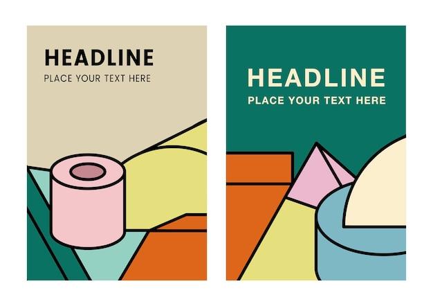 Diseño gráfico de maqueta colorido titular