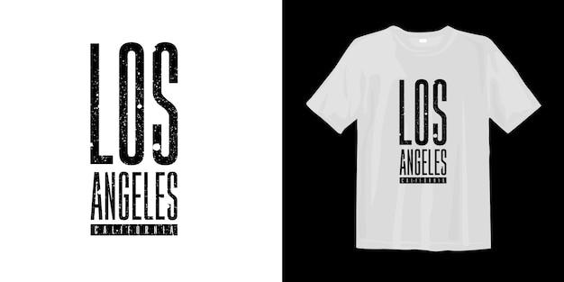 Diseño gráfico de moda y camiseta gráfica de los angeles california
