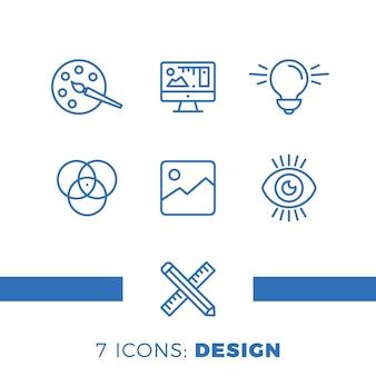 Diseño gráfico, paquete creativo
