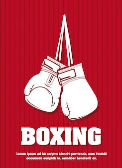 Diseño gráfico de la plantilla del cartel de boxeo