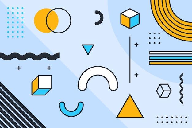 Diseño gráfico resumen de antecedentes geométricos