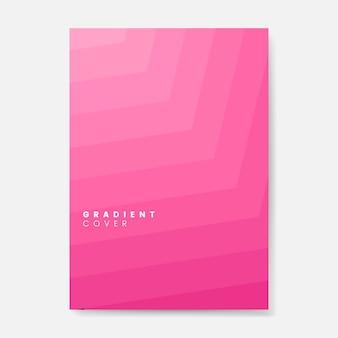 Diseño gráfico rosado de la cubierta del gradiente