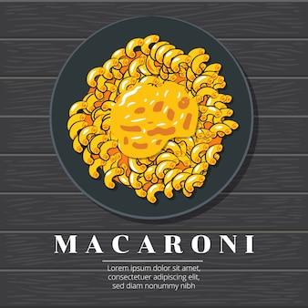 Diseño gráfico vectorial de macarrones