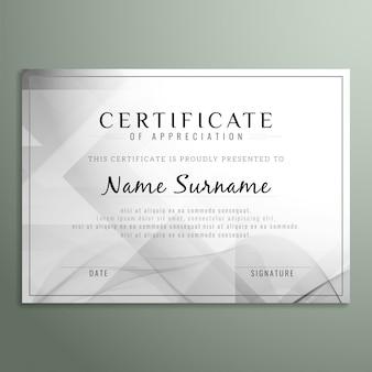 Diseño gris de certificado