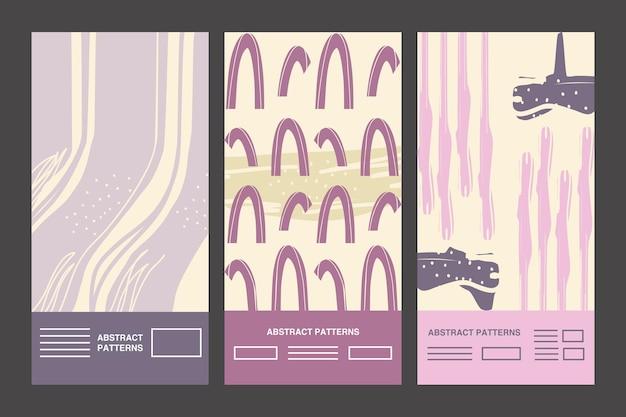 Diseño de grupo de iconos de fondos de patrón abstracto, tema de arte y papel tapiz