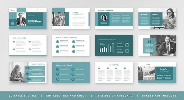 Diseño de guía de folleto de presentación comercial o plantilla de diapositiva o control deslizante de guía de ventas