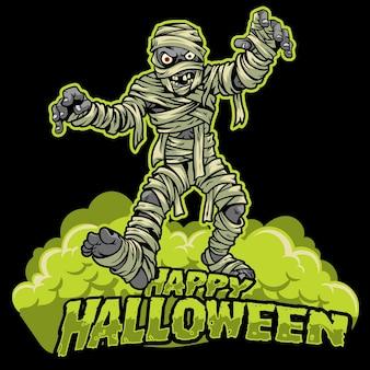 Diseño de halloween de la momia