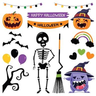 Diseño de halloween con personaje de dibujos animados
