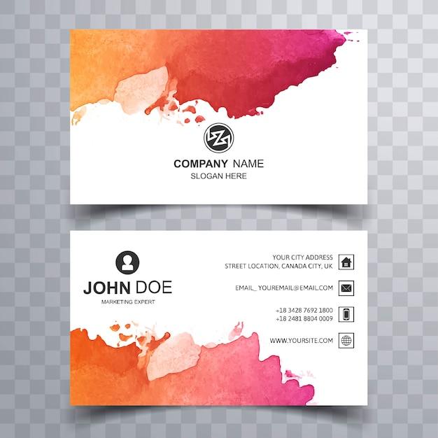 Diseño hermoso abstracto de la tarjeta de visita
