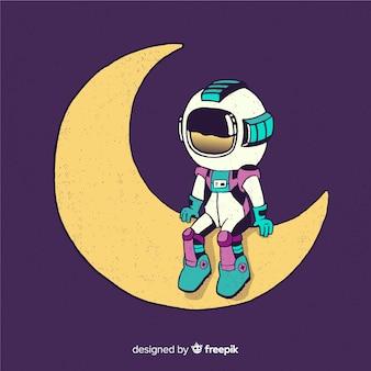Diseño hermoso de astronauta