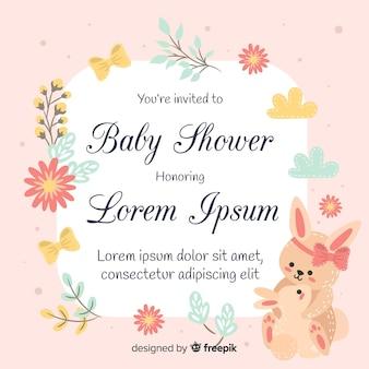 Diseño hermoso de baby shower en estilo flat