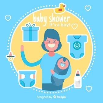 Diseño hermoso de baby shower