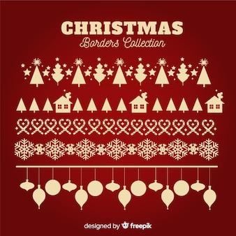 Diseño hermoso de decoración de navidad flat