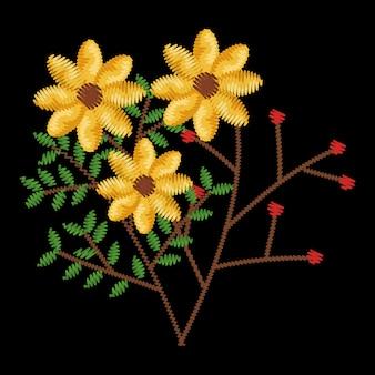 Diseño hermoso del ejemplo del vector del icono de la decoración floral