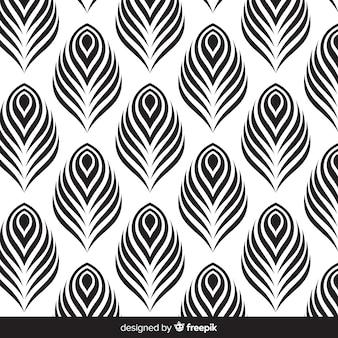 Diseño hermoso de patrón de plumas de pavo real