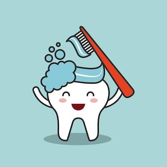 Diseño de higiene dental, ilustración vectorial gráfico eps10