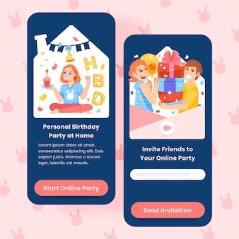 Diseño de historia de instagram de feliz cumpleaños